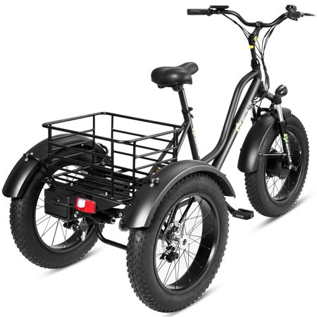 444a1ba7049 Goplus Electric Adults Tricycle 20'' Fat Tire LCD Display 500W Motor  Lithium Battery ...