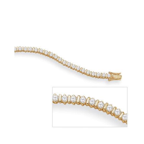 Palm Beach Jewelry 18k Gold/Silver Cubic Zirconia Tennis Bracelet
