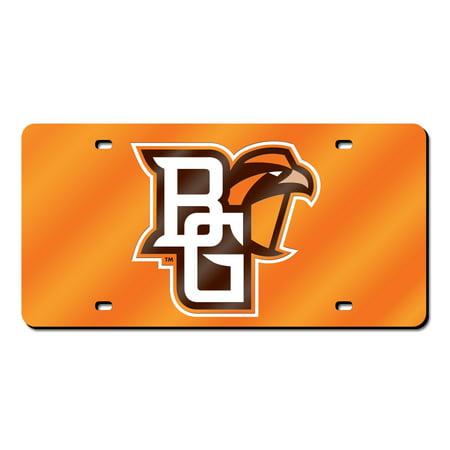 Bowling Green Falcons NCAA Orange Mirrored Laser Cut License Plate Laser