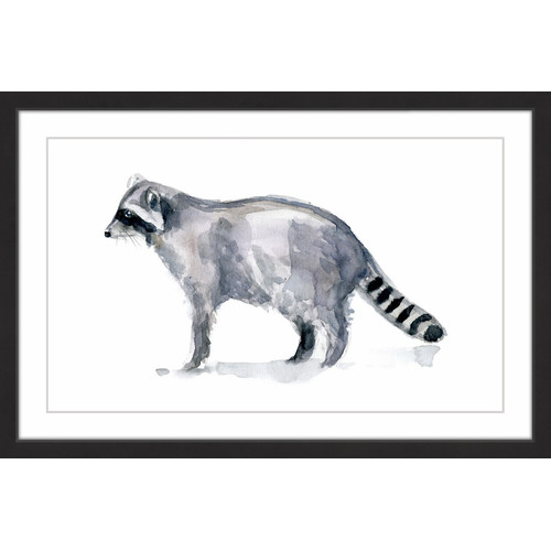 "Marmont Hill ""Raccoon Stance"" by Michelle Dujardin Framed Painting Print"