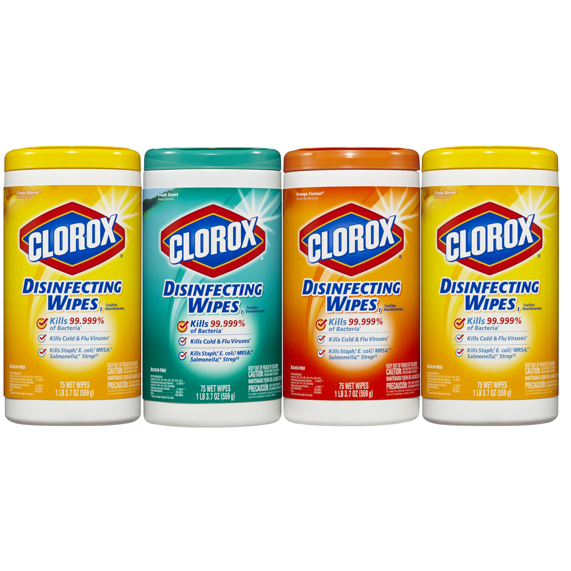 Clorox Disinfecting Wipes Value Pack, Citrus Blend, Fresh Scent and Orange Fusion, 300 Wet Wipes by The Clorox Company
