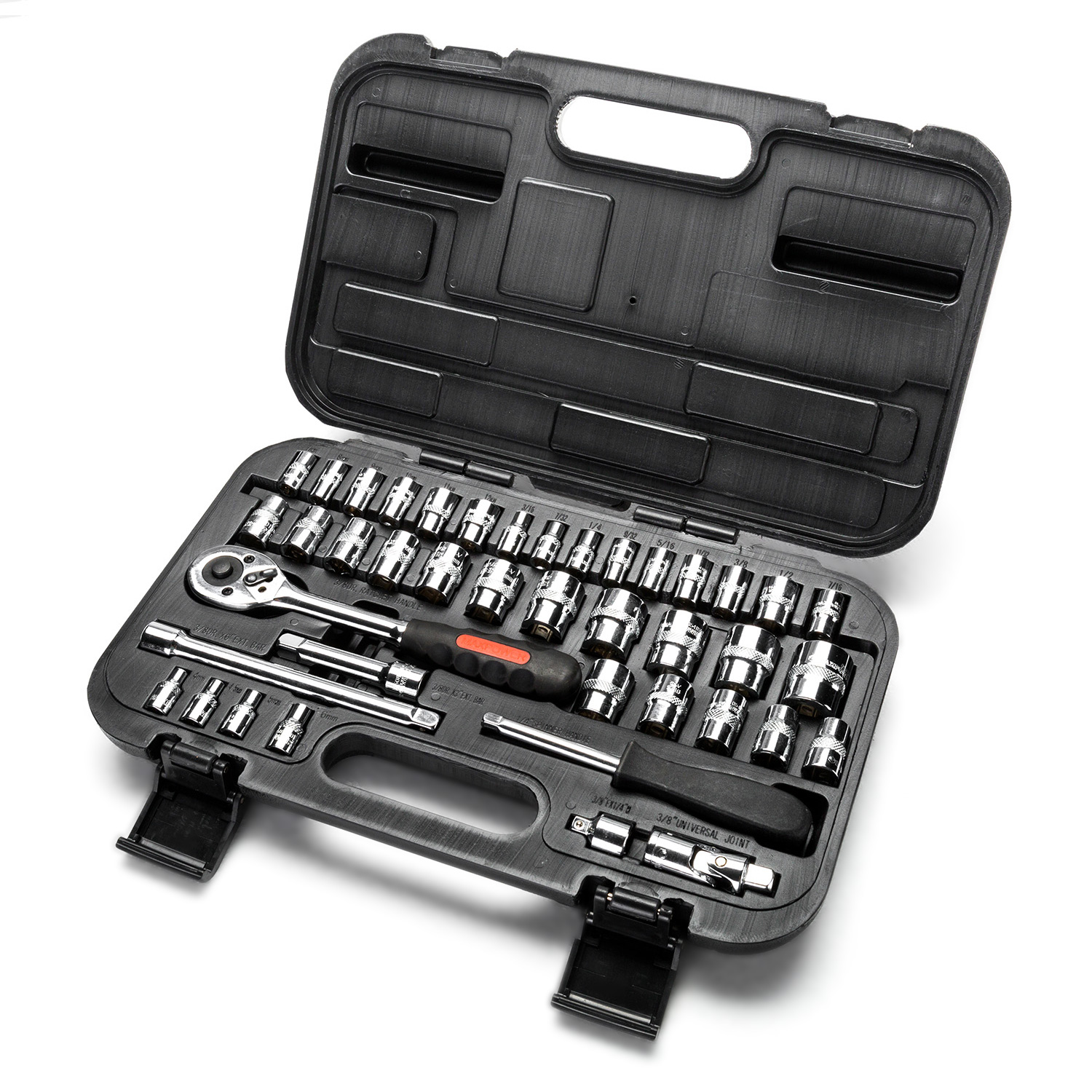 MAXPOWER 42-Piece 1 4'& 3 8'Dr. Socket Wrench Set With Included Sockets, Ratchet Handle, Extension Bars,... by
