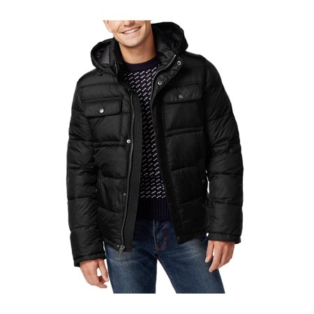 9687b9b5 Tommy Hilfiger Mens Hooded Puffer Jacket blk 2XLT - Big & Tall - image 1 ...