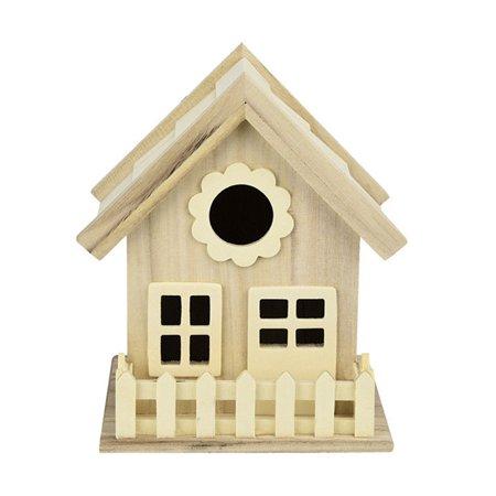 New House Shape Creative Wooden Bird Nest Birdhouse Breeding Box Decoration