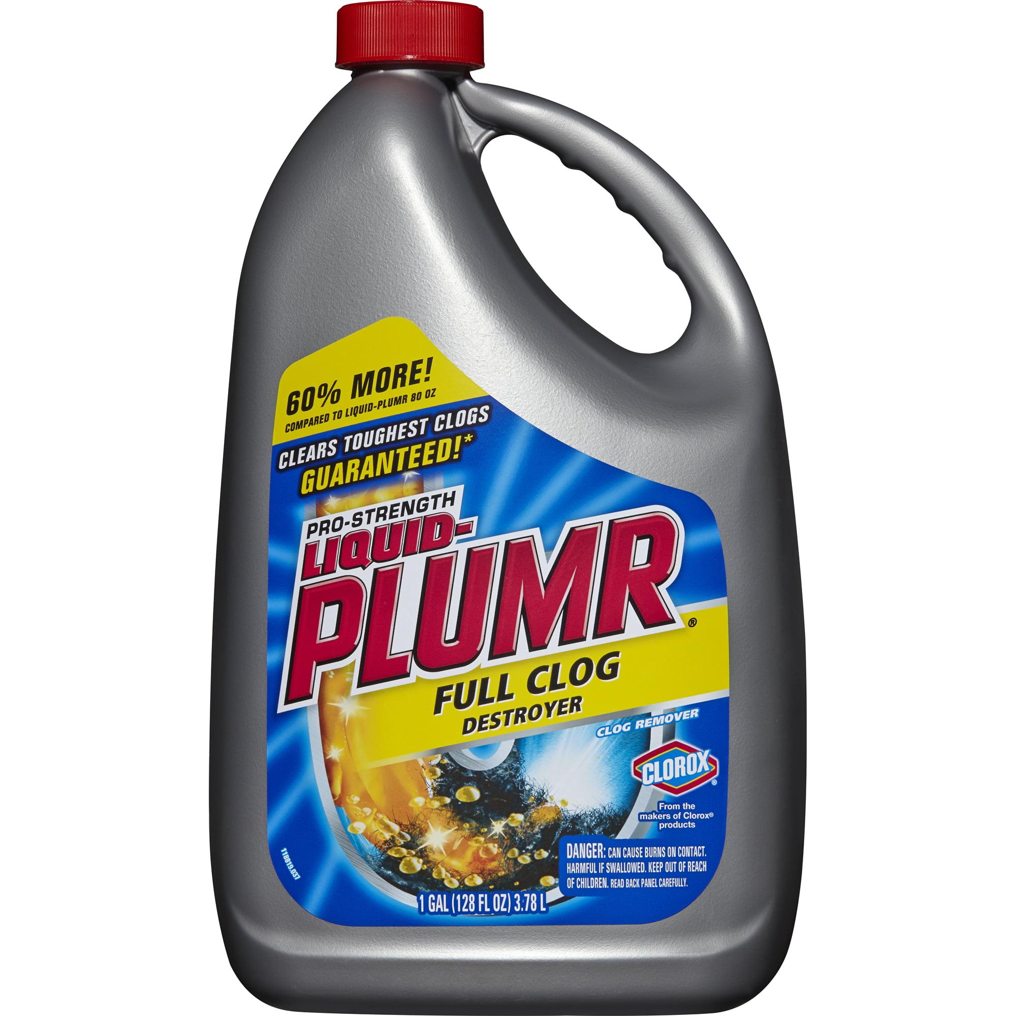Liquid Plumr Pro Strength Full Clog Destroyer Plus Pipeguard 160 Oz