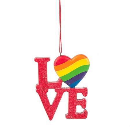 LOVE Rainbow Heart LGBT Christmas Tree (Love Christmas Ornament)