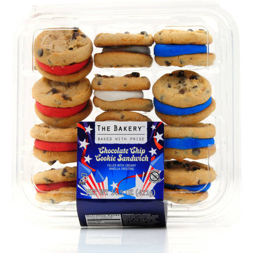 Patriotic Red White and Blue Chocolate Chip Sandwich Cookie, 14.5 oz