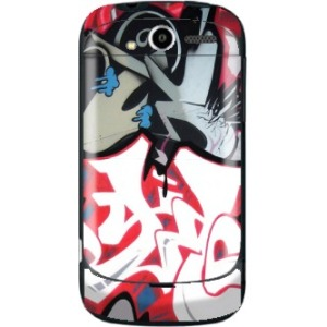 Mightyskins Protective Vinyl Skin Decal Cover for HTC myTouch 4G T-Mobile wrap sticker skins - Graffiti Mash Up