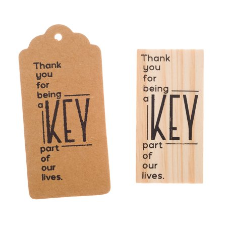Ella Celebration Wooden Rubber Stamp for Tags, Thank You Stamps for Weddings and Guest Gifts (Thank You Modern) (Wedding Guest Gift)