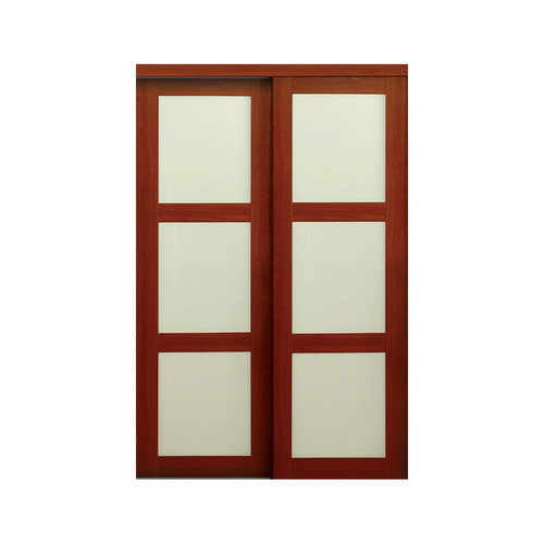 Erias Home Designs Baldarassario MDF 2 Panel Sliding Closet Door