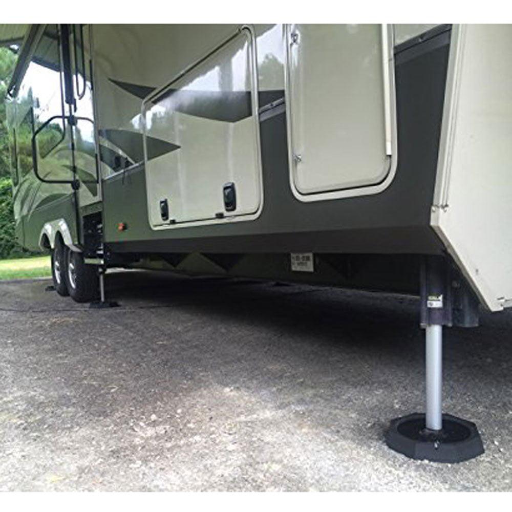 SnapPad Xtra 9 Inch Round Landing Feet Motorhome RV Leveling Jack Pads (4  Pack)