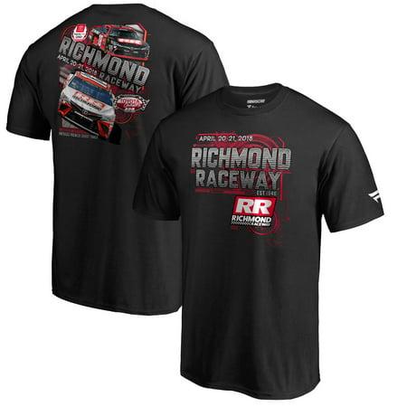 Richmond Raceway Fanatics Branded 2018 Event Logo T-Shirt - Black - Richmond Uk Halloween Events