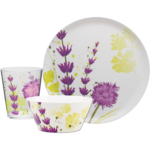 Casual dinnerware is perfect for everyday and outdoor dining, as well as easy care for. The fun patterns on these melamine plates are a bold addition to any table.