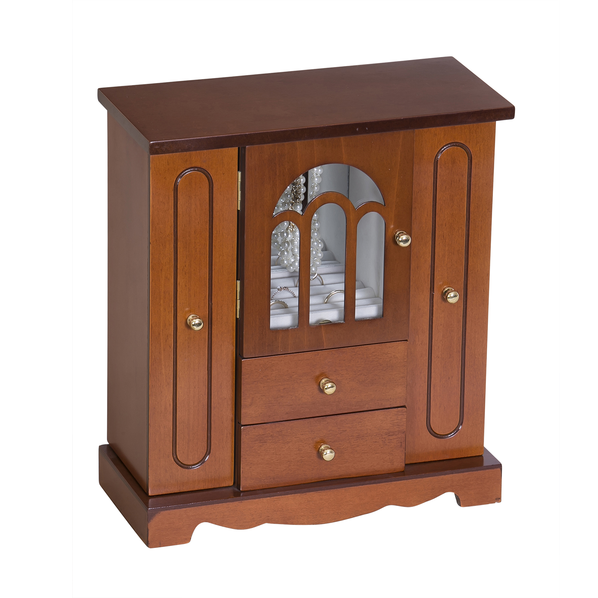 Windsor Wooden Jewelry Box, Walnut Finish