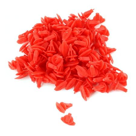 Plastic Trim Clips Car Bumper Door Rivets Fastener 15mm Length Red 100PCS - image 2 of 2