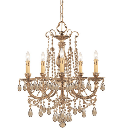 Chandeliers 5 Light With Olde Brass Cast Brass 20 inch 300 Watts - World of Lighting