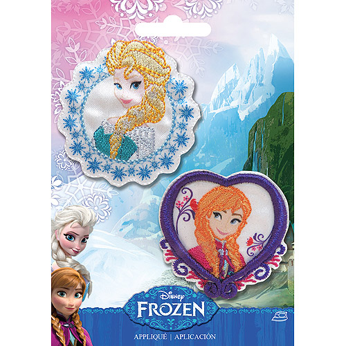 Disney Frozen Iron, On Appliques, 2-Pack, Elsa and Anna