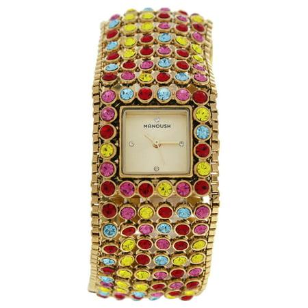 MSHMAR Marilyn - Gold/Multicolor Stainless Steel Bracelet Watch by Manoush for Women - 1 Pc Watch - image 1 de 1