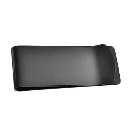 Basic Black Money Clip For Men Plain Engravable Credit Card Plated Stainless Steel Black Plain Clip