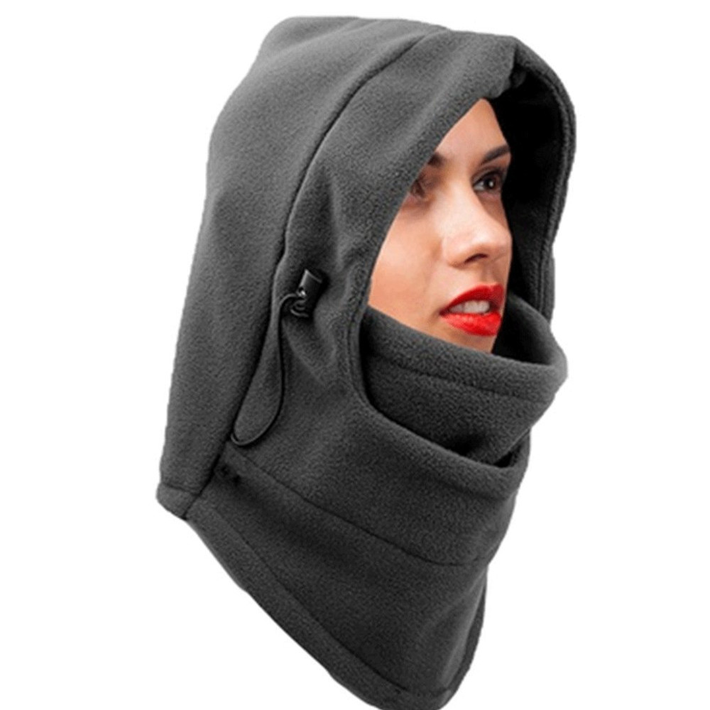 Double Layers Thermal Warm Fleece Balaclava Hood Full Face Cover Mask
