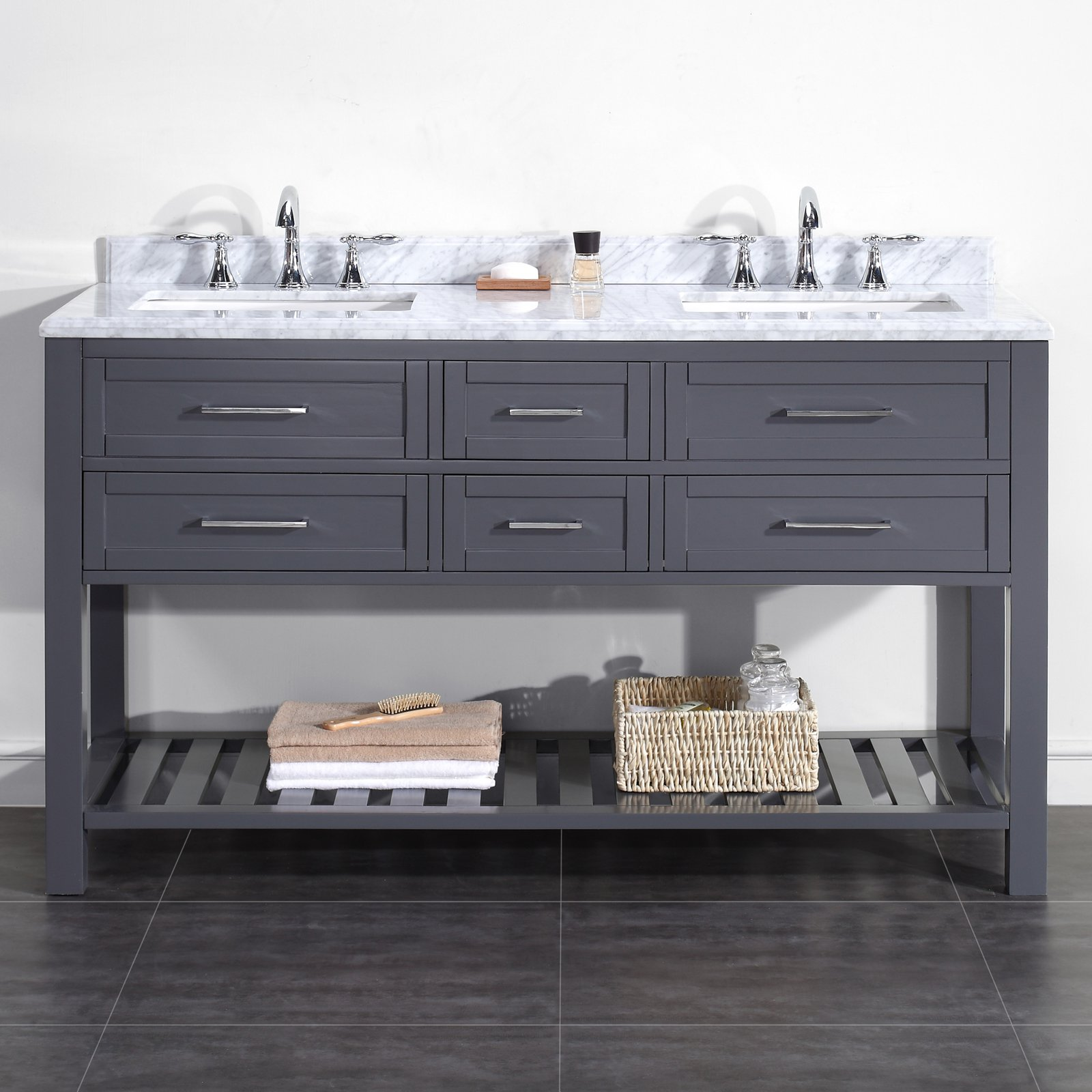 OVE Decors Pasadenas 60 in. Double Bathroom Vanity
