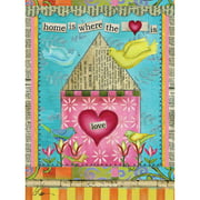 """Well Street by Lang """"Home Is Where The Heart Is"""" Mini Garden Flag, 12"""" x 18"""""""