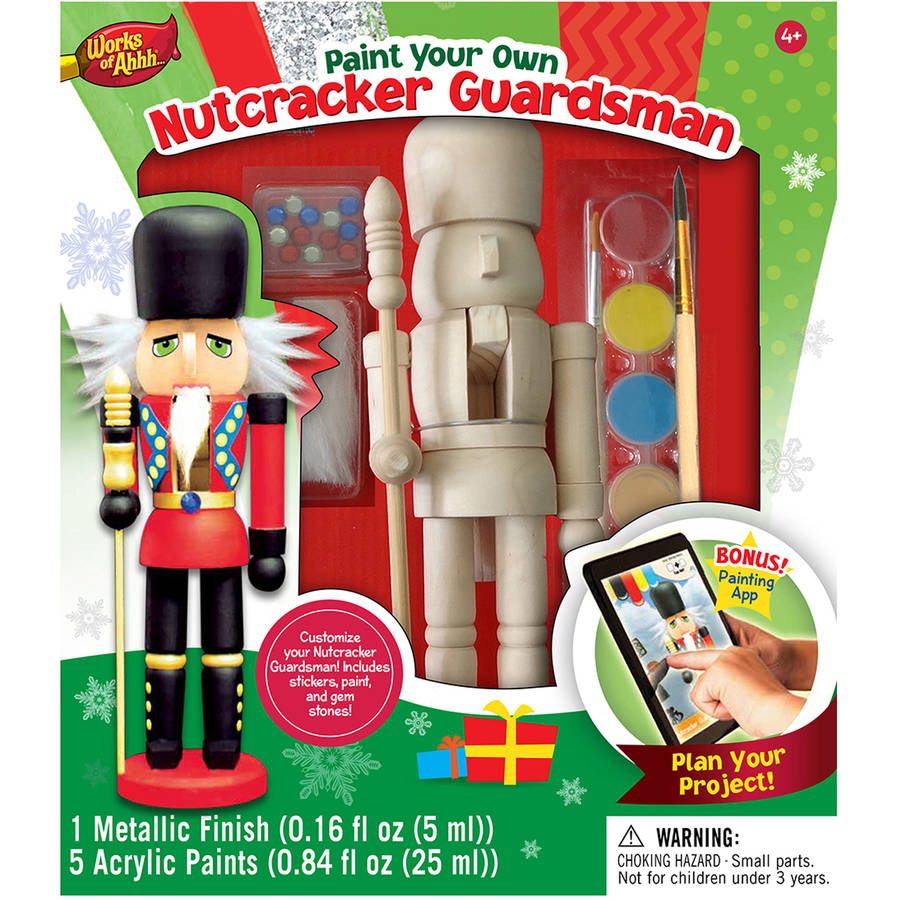 MasterPieces Works of Ahhh…Nutcracker Guardsman Holiday Wood Paint Kit