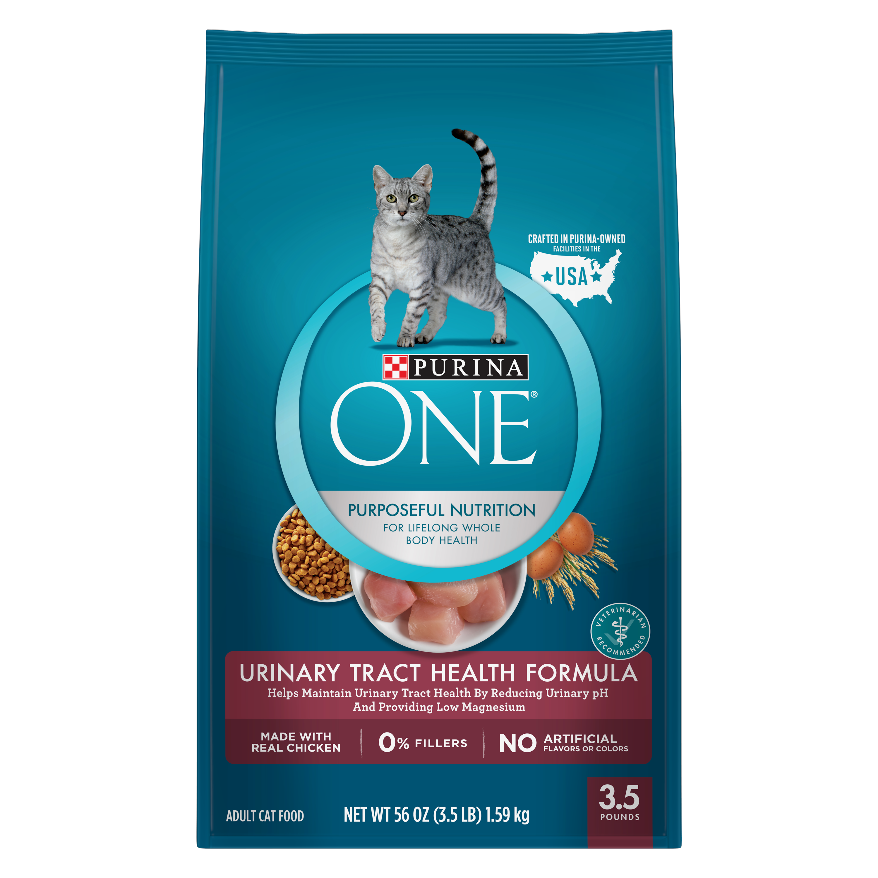 Purina ONE Urinary Tract Health Formula Adult Dry Cat Food, 3.5 lb