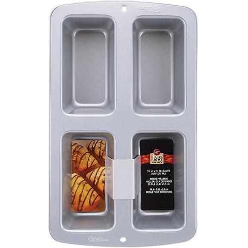 Wilton Recipe Right 4-Cavity Mini Loaf Pan 2105-9101