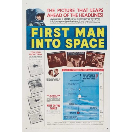 First Man Into Space Poster Movie  27X40