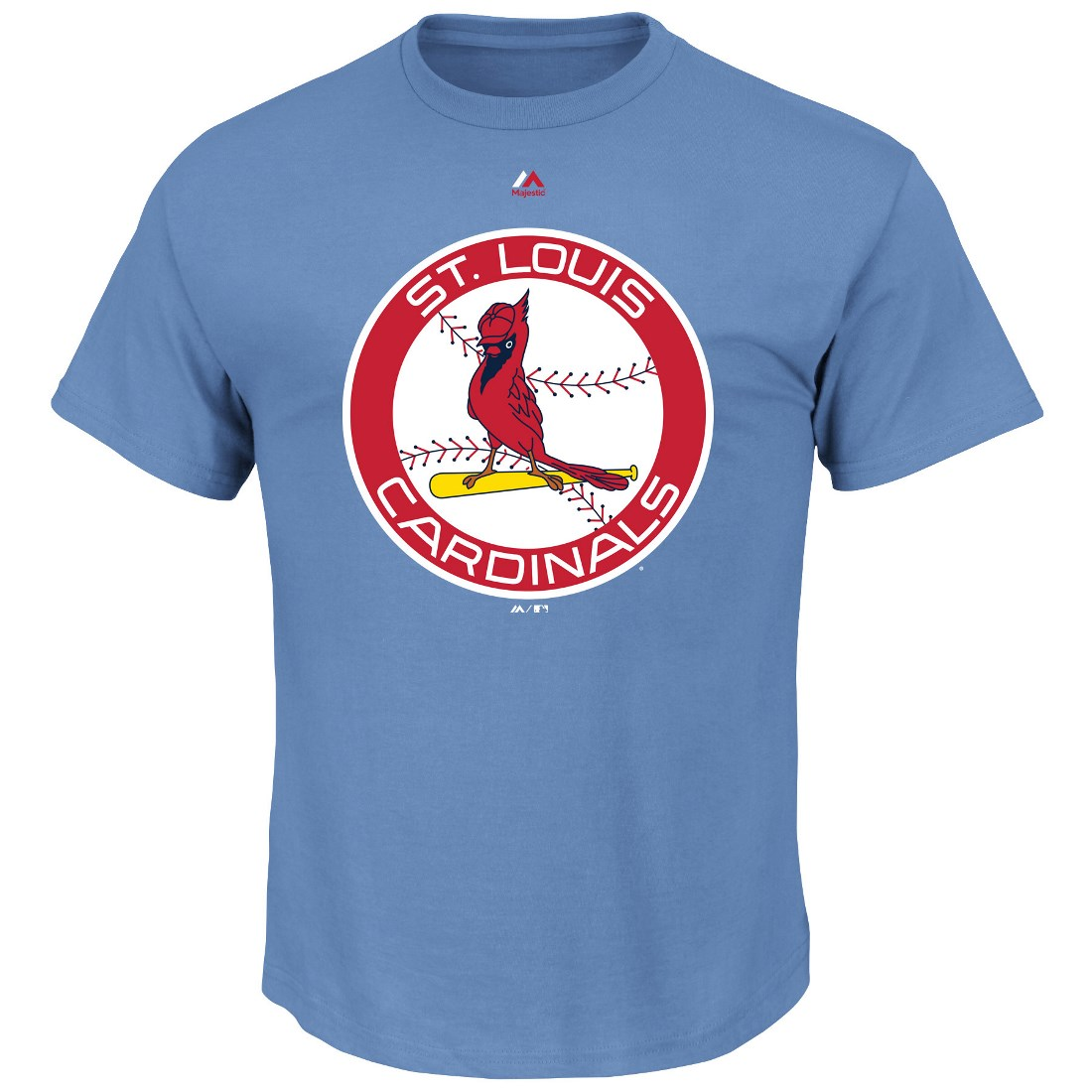 """St. Louis Cardinals Majestic MLB """"Official Logo"""" Cooperstown Men's S/S T-Shirt"""
