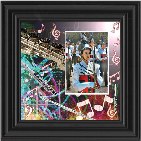 Flute  Musician Gifts Flute  Personalized Picture Frame For The Flute Player  10X10 3511