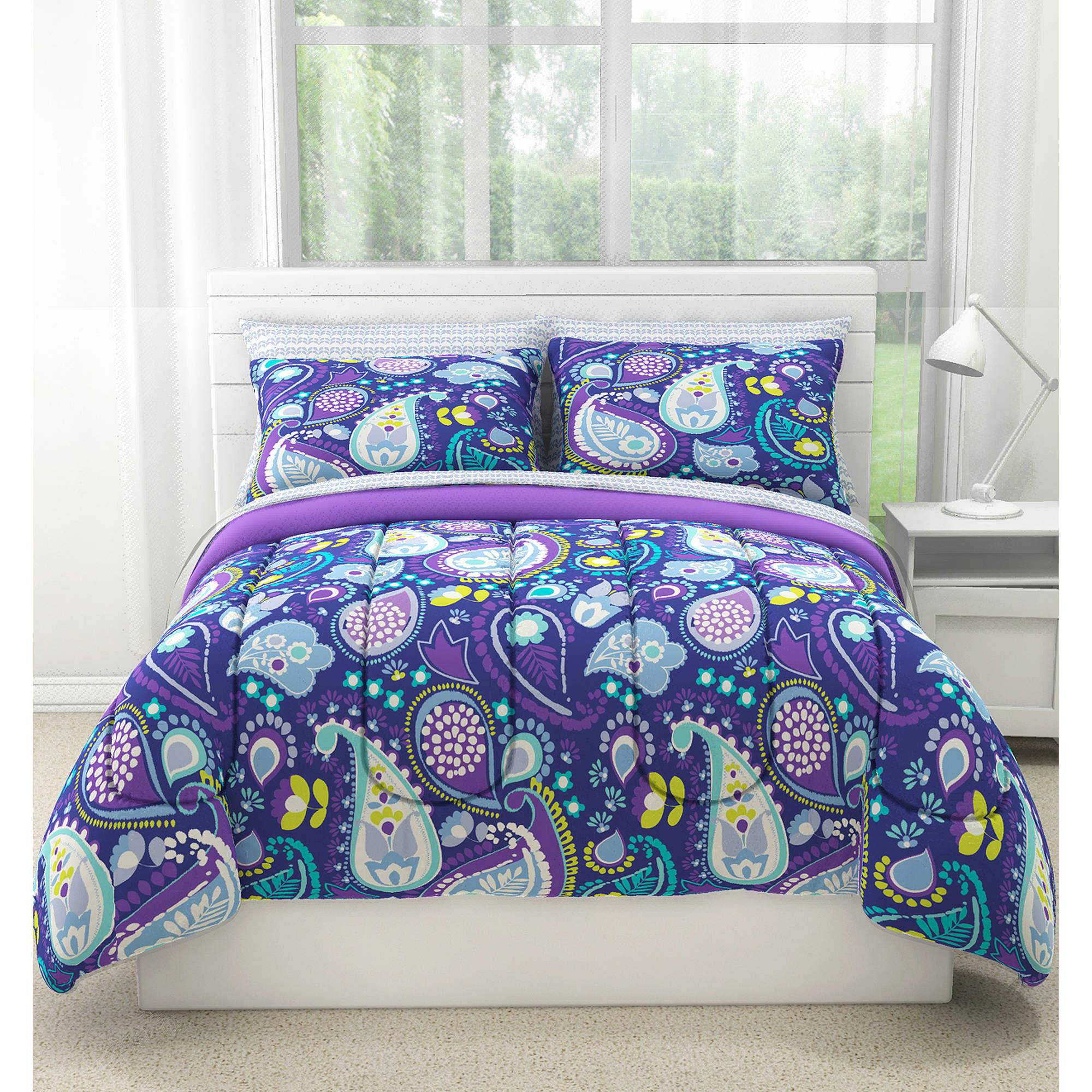 your zone midnight paisley 2-piece comforter set, twin