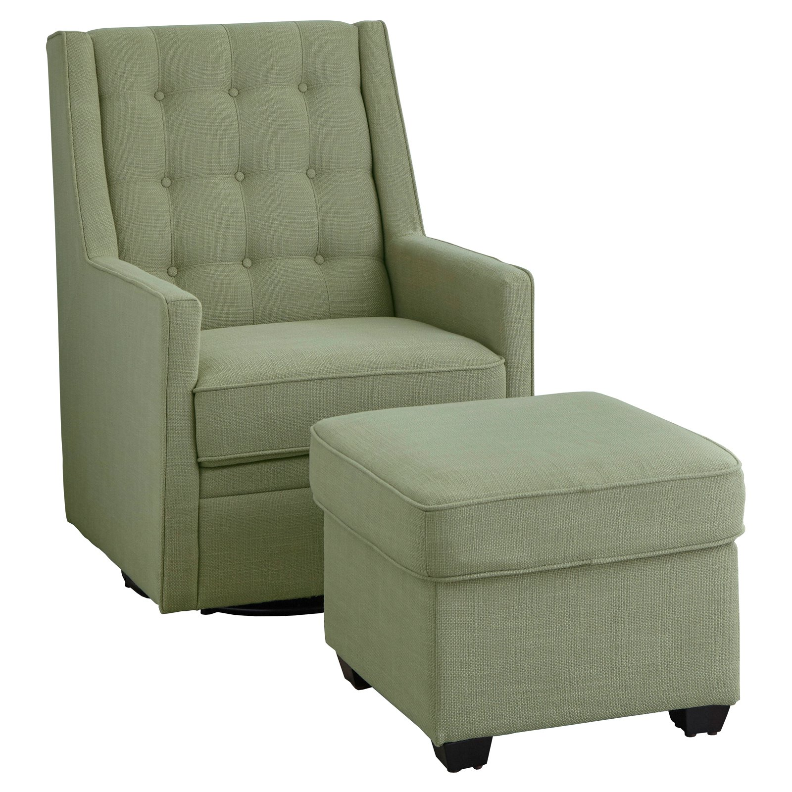 Target Marketing Systems Angelo:HOME Lillian Rocking Swivel Chair And  Ottoman