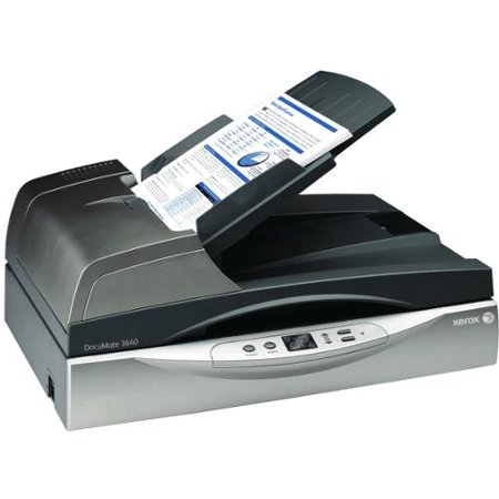 Xerox DocuMate 3640 Flatbed Scanner 600 dpi Optical 24-bit Color 40 USB by