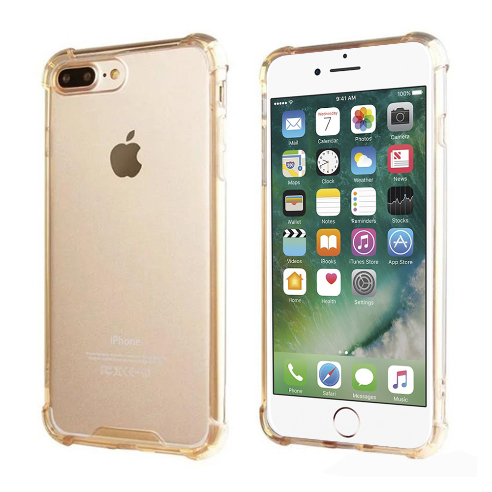 For IPhone 8 Plus / IPhone 7 Plus Full Body Hybrid TPU Transparent Bumper Case Cover