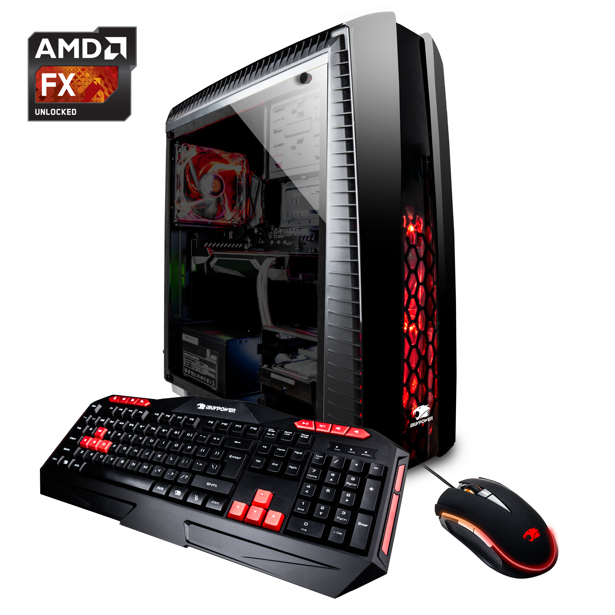 iBUYPOWER N27B7033GRXV2 - Gaming Desktop PC - AMD FX 8320 - 8GB DDR3 Memory - NVIDIA GeForce GTX 1050Ti 4GB - 1TB Hard Drive - 120GB SSD - N27B7033GRXV2