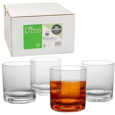 Unbreakable Whiskey Glasses - Set of 4 Premium Whisky Scotch Glasses-100% Tritan - Shatterproof, Reusable, Dishwasher Safe by (Scotch Whisky Distilleries)