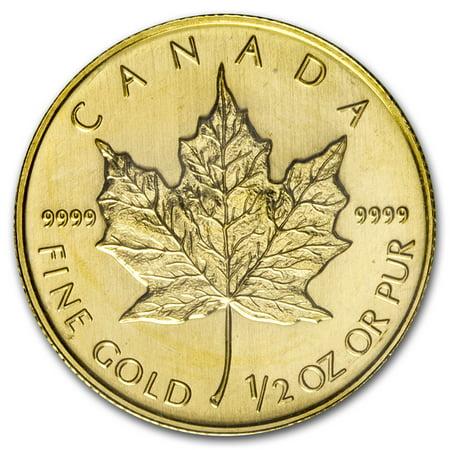 2008 Canada 1/2 oz Gold Maple Leaf BU