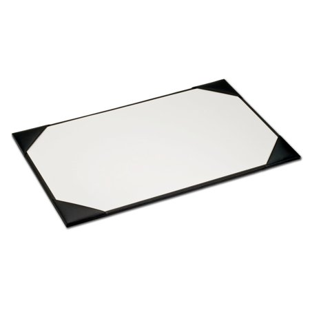 Black Leather 34 x 20 Desk Pad with Blotter Paper