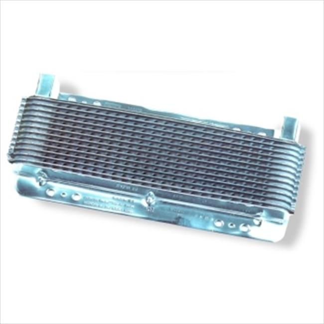 B&M CO 70265 Oil Cooler, Small Supercooler Polished Finish