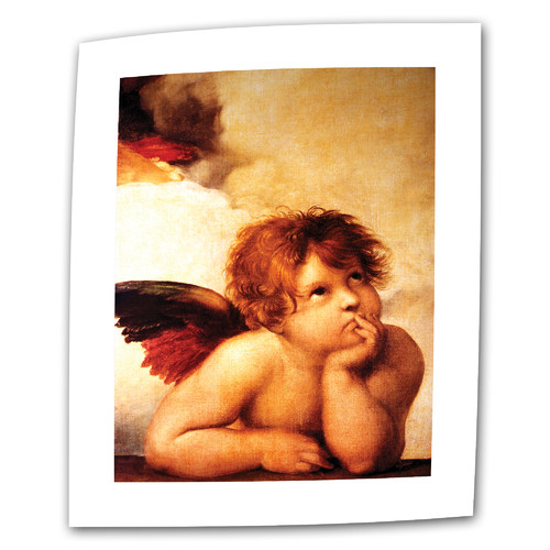 ArtWall 'Cherub'' by Raphael Painting Print on Canvas