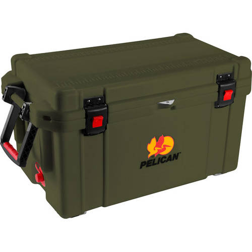 Pelican 65 Quart Cooler, Green