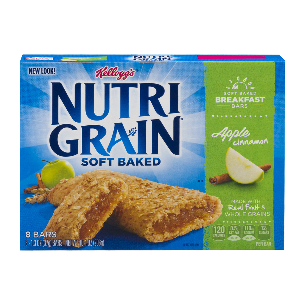 Kellogg's Nutri Grain Soft Baked Breakfast Bars Apple Cinnamon - 8 CT