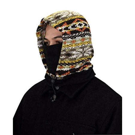 Peach Couture Thick Knit One Hole Facemask Balaclava Snowboarding Biker Mask - Beaker Mask