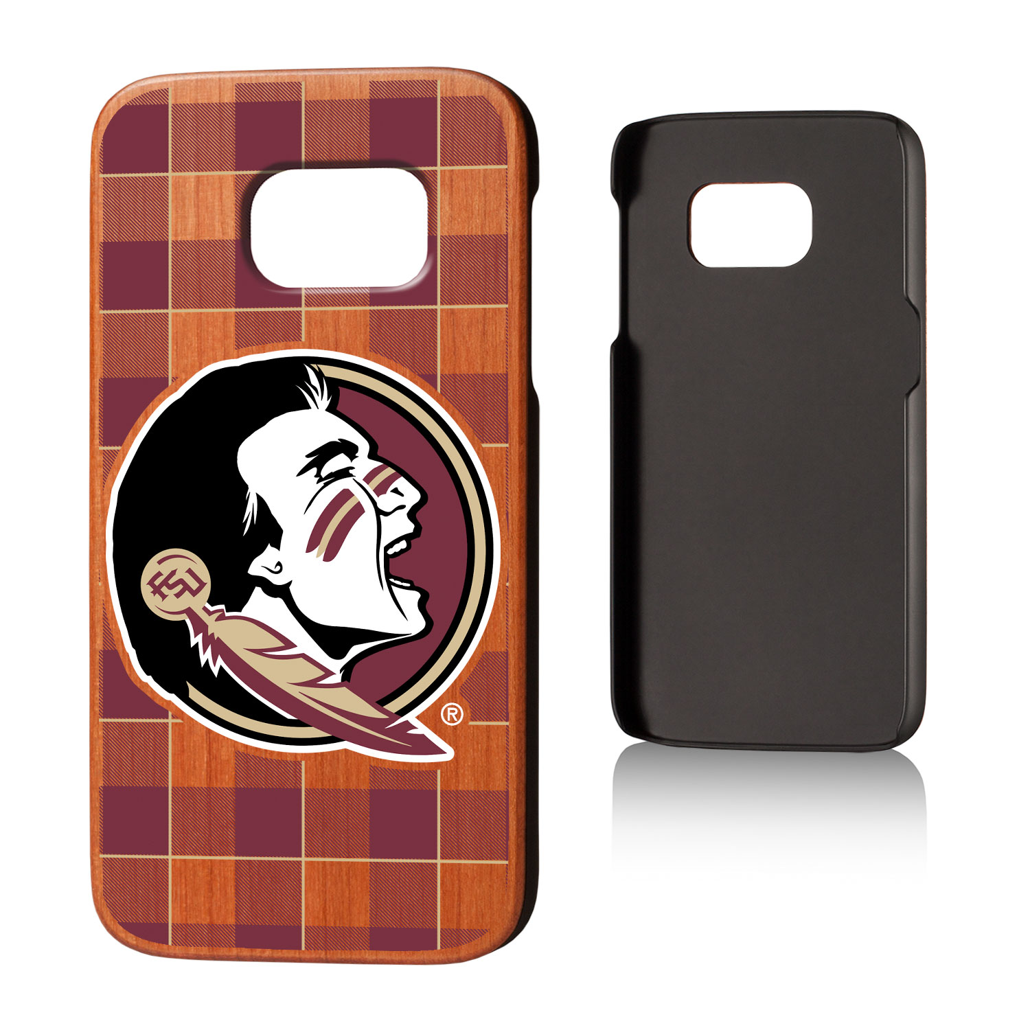 FSU Florida State Seminoles Plaid Cherry Case for Galaxy S7