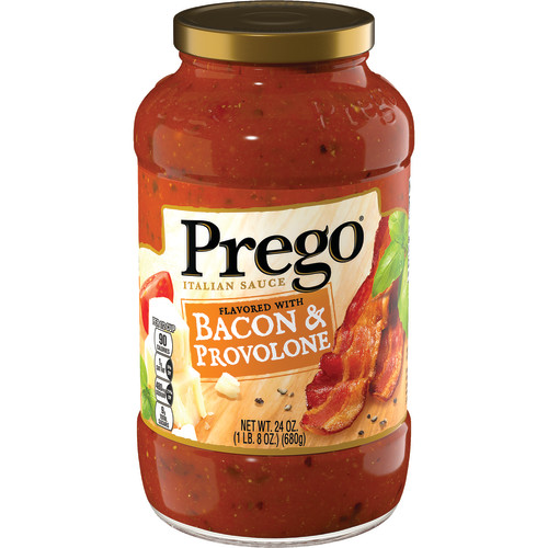 Prego Flavored With Bacon & Provolone Italian Sauce, 24 oz.
