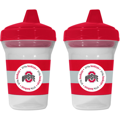 Baby Fanatic Ohio State Buckeyes 2-Pack Sippy Cup, BPA-Free