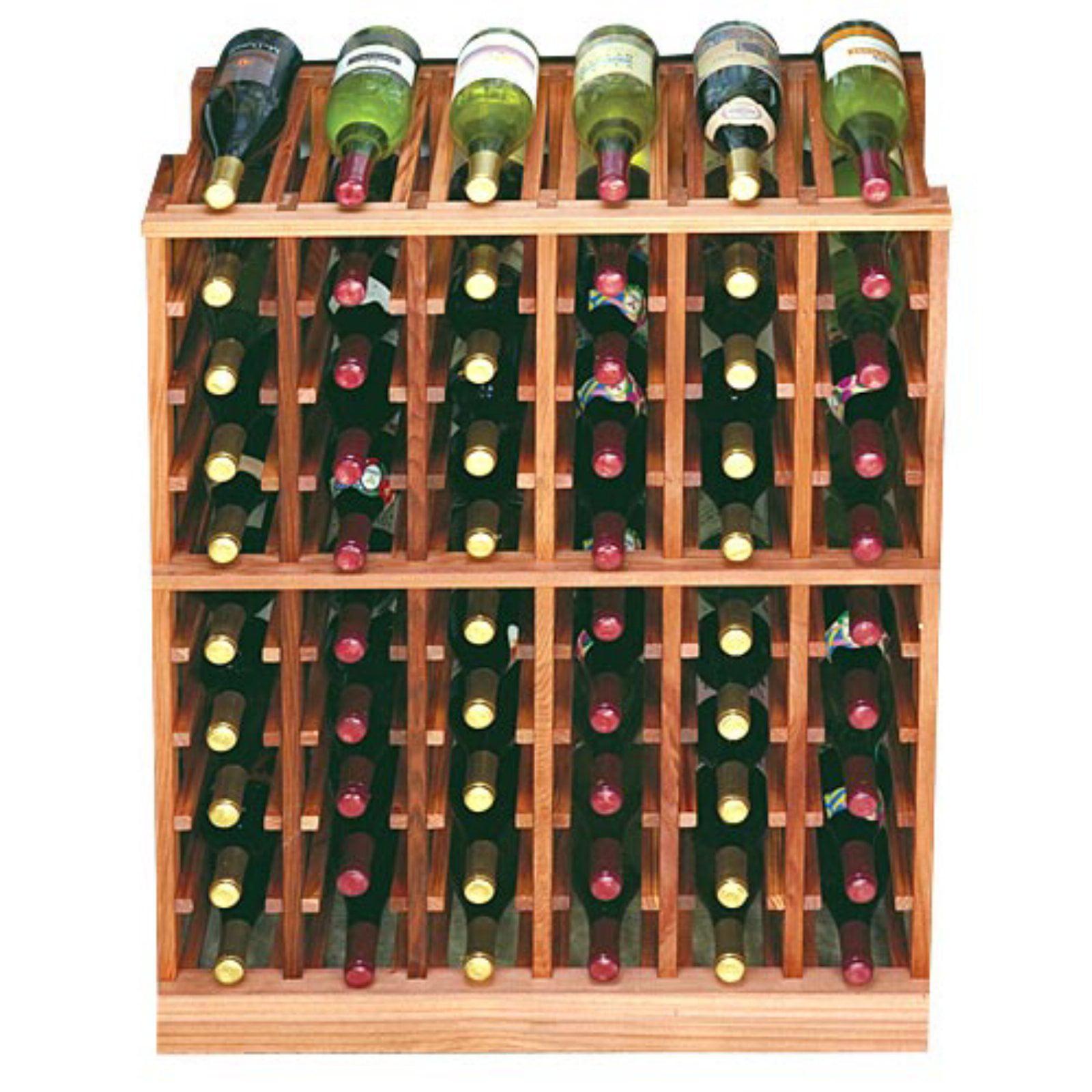 Designer Series 60-Bottle 6-Column Half Height Wine Rack