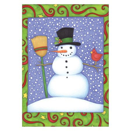 Toland Home Garden Top Hat Snowman Flag - Mini Snowman Hats